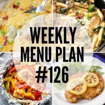 Weekly Menu Plan #126