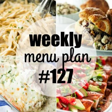 Weekly Menu Plan #127