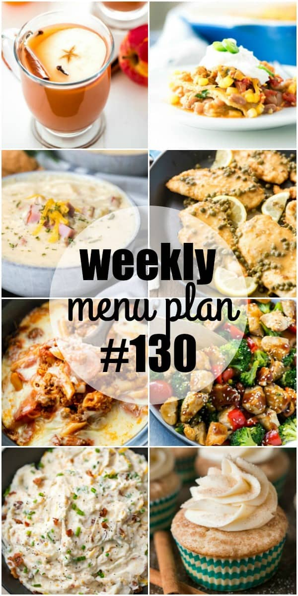 These comforting dinners are the best way to warm up on a cold day! Each recipe in this week's menu plan is a family favorite that's simple to make!