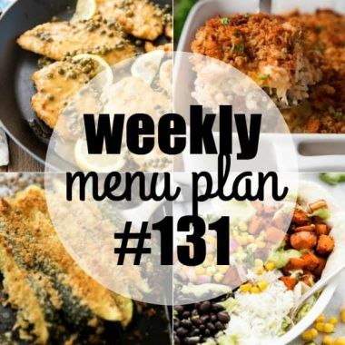 Weekly Menu Plan #131