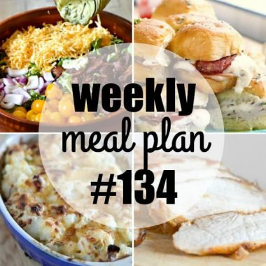 Weekly Meal Plan #134