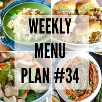 Weekly Menu Plan #34