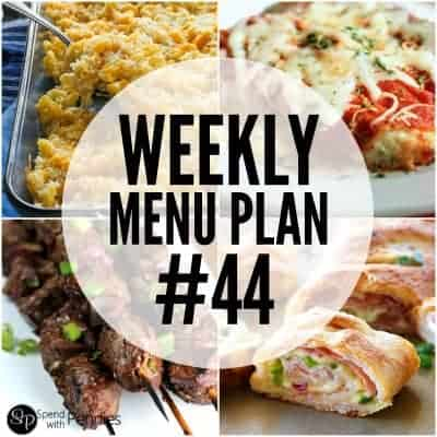 Weekly Menu Plan #44