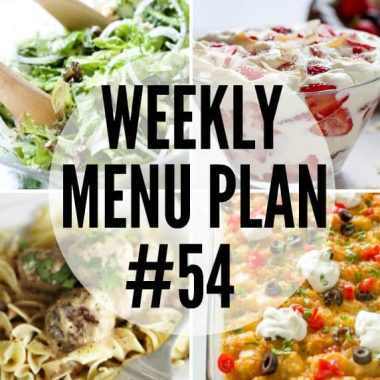 Weekly Menu Plan #54