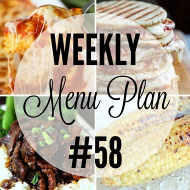 Weekly Menu Plan #58