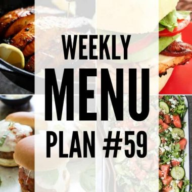 Weekly Menu Plan #59