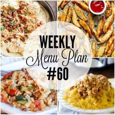 Weekly Menu Plan #60
