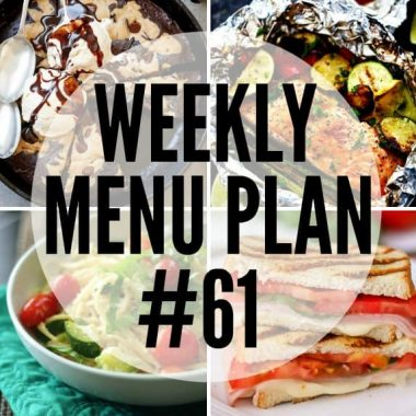 Weekly Menu Plan #61