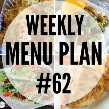 Weekly Menu Plan #62