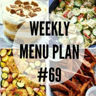 We've put together a WEEKLY MEAL PLAN to make your week a bit easier! These recipes are perfect for fall!