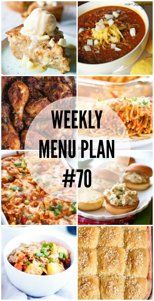 This week's menu plan is full of recipes that'll bring everyone running to the dinner table!