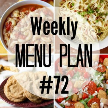 Weekly Menu Plan #72