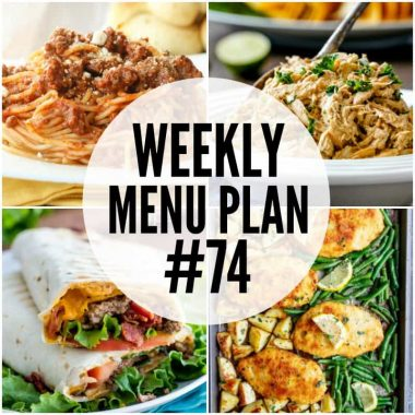 Get dinner on the table in a snap with these Weekly Menu Plan recipes!