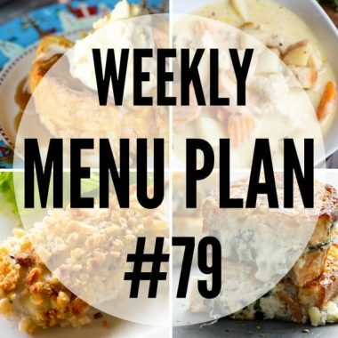 The holidays are hectic, but don't fret! This week's menu plan will let you get dinner on the table in a snap!