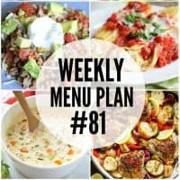 Start your new year off right with these delicious Weekly Menu Plan recipes!