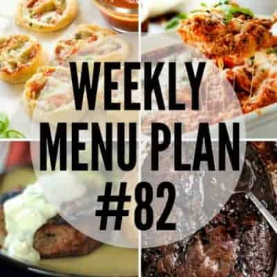 Weekly Menu Plan #82