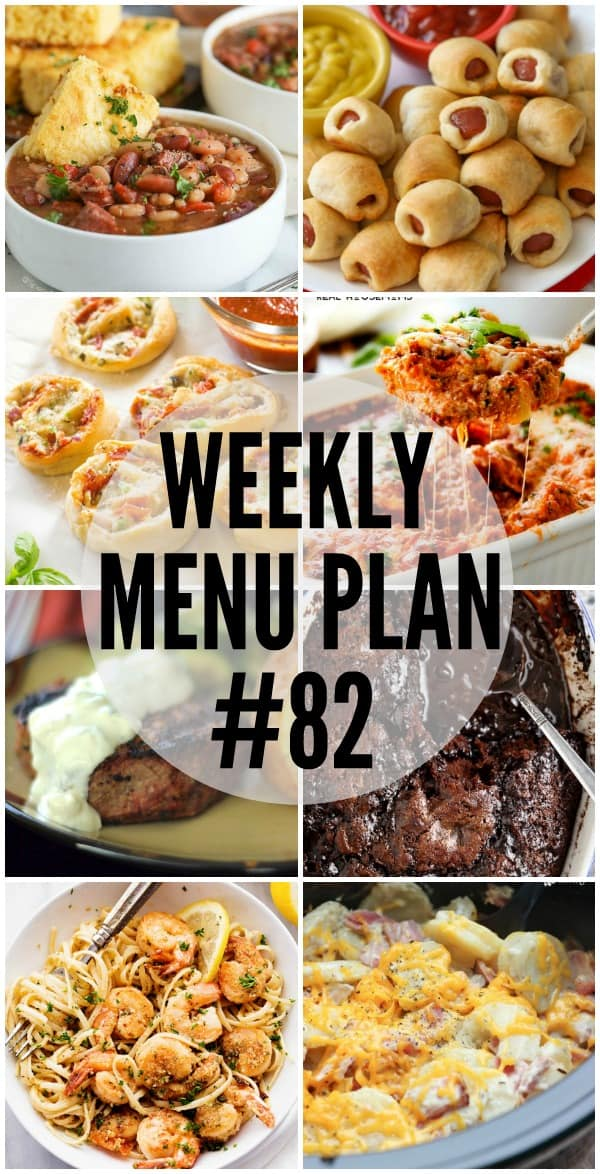 These delicious and comforting Weekly Menu Plan recipes will bring your family running to the table!