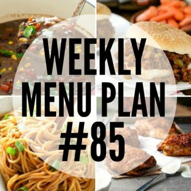 This week's Menu Plan is full of comforting dinners to fill you up and soothe your soul!