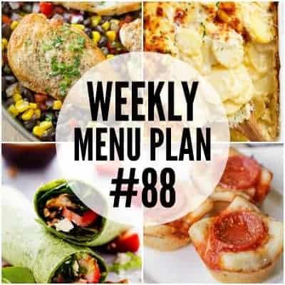 Weekly Menu Plan #88