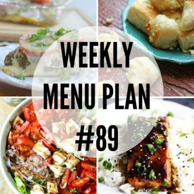 Weekly Menu Plan #89