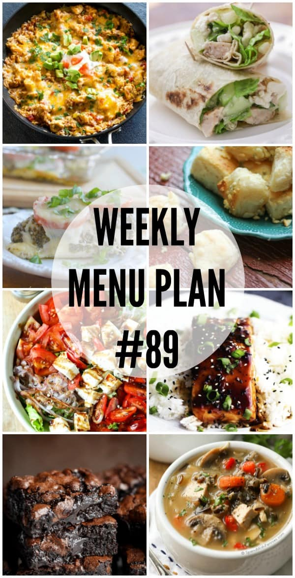 Getting dinner on the table is a snap with these easy Weekly Menu Plan recipes!