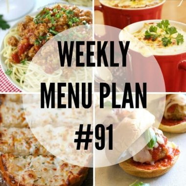 Weekly Menu Plan #91