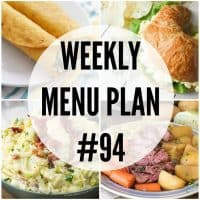 Don't know what to make for dinner? Don't worry! This week's menu plan recipes have you covered!