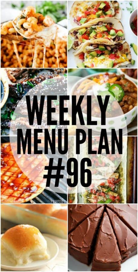 Easy dinner recipes are a life saver during the week, and these Menu Plan recipes are some of my favorites!