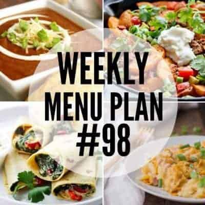 Weekly Menu Plan #98