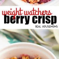 This Weight Watcher Berry Crisp is the perfect dessert for one! This fruity and light dessert is ready in just 15 minutes and loaded with flavor!