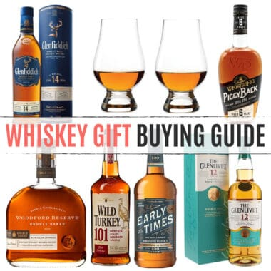 square collage of whiskey gift ideas with article name