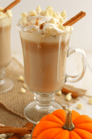 White Chocolate Pumpkin Spice Latte by Delightful E Made
