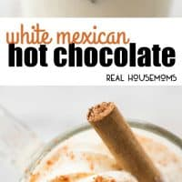 Make this White Mexican Hot Chocolate to keep you warm this winter! Cinnamon and cayenne add a touch of warmth for the best single severing drink!