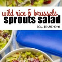 This one-pot Wild Rice and Brussels Sprouts Salad is a warm hug in a bowl! It's an easy side dish with just a few ingredients but has all the cozy fall feelings!