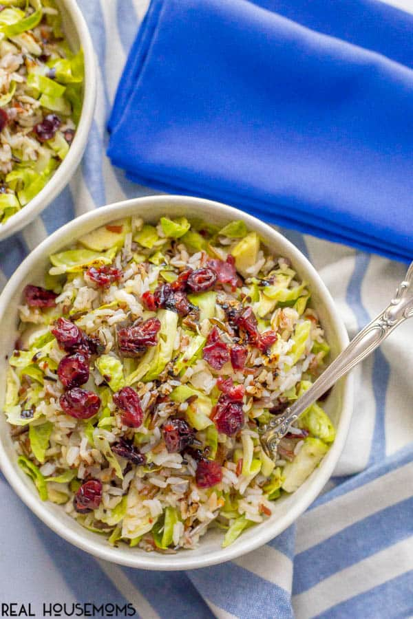 Wild rice and Brussels sprouts salad
