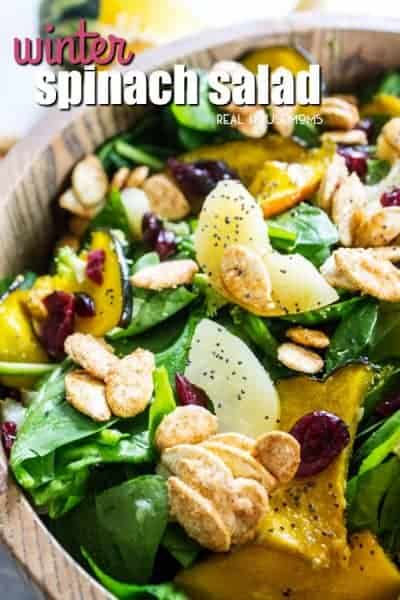 Winter Spinach Salad