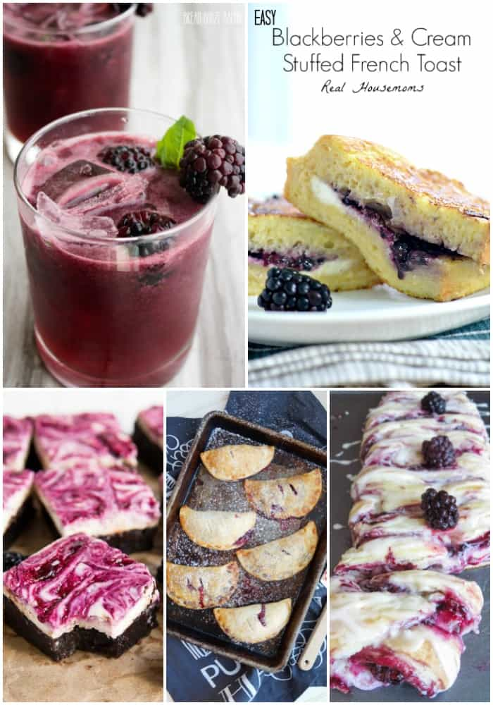 collage of the best blackberry recipes