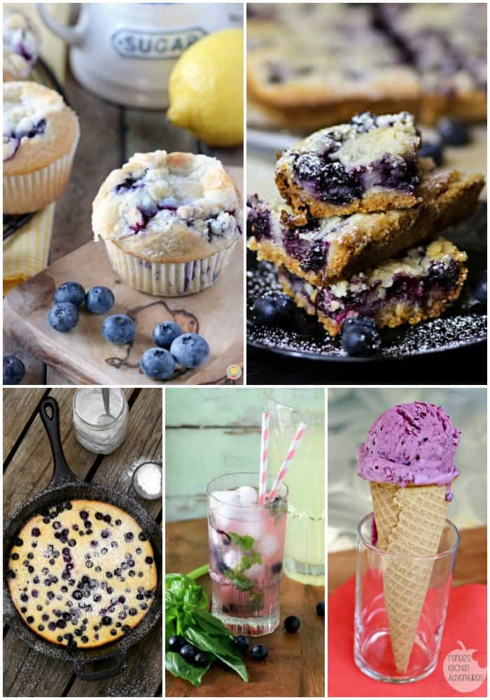 collage of the best blueberry recipes