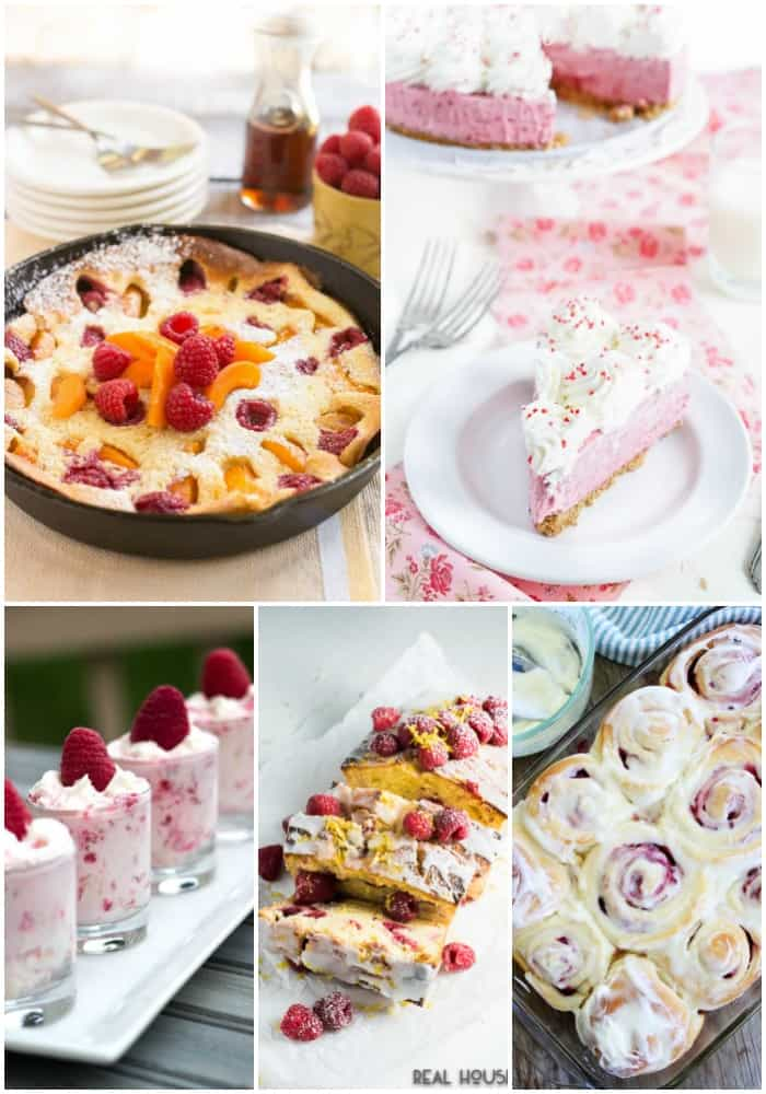 collage of the best raspberry recipes