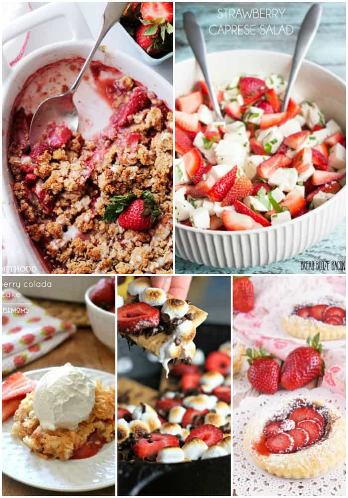 collage of the best strawberry recipes