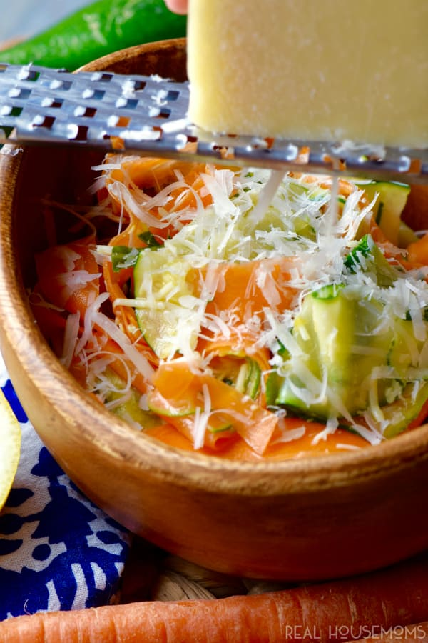 This CARROT ZUCCHINI SALAD is made with fresh ingredients and no mayonnaise so it's perfect for all your summer picnics or an easy dinner side dish!