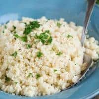 Swap out your white rice with CAULIFLOWER RICE for a low-carb, low-calorie, grain-free Paleo side dish!