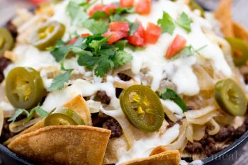 Beef and Caramelized Onion Nachos | Eazy Peazy Mealz