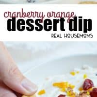 If you need a quick, easy holiday dessert this Cranberry Orange Dessert Dip is it! Just mix a few simple ingredients and you are ready to go!