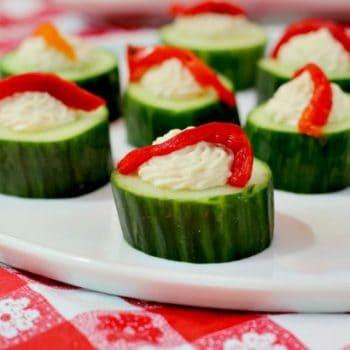 cucumber hummus cups squ