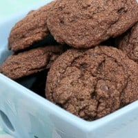 Chewy, moist and loaded with chocolate, you won't be able to resist these DOUBLE CHOCOLATE BROWNIE COOKIES!