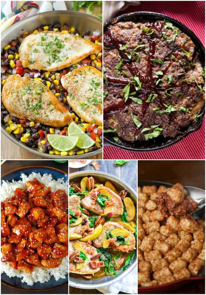 My cast iron skillet is one of my favorite kitchen tools and with good reason! These skillet dinners come together in a snap and taste oh so good!