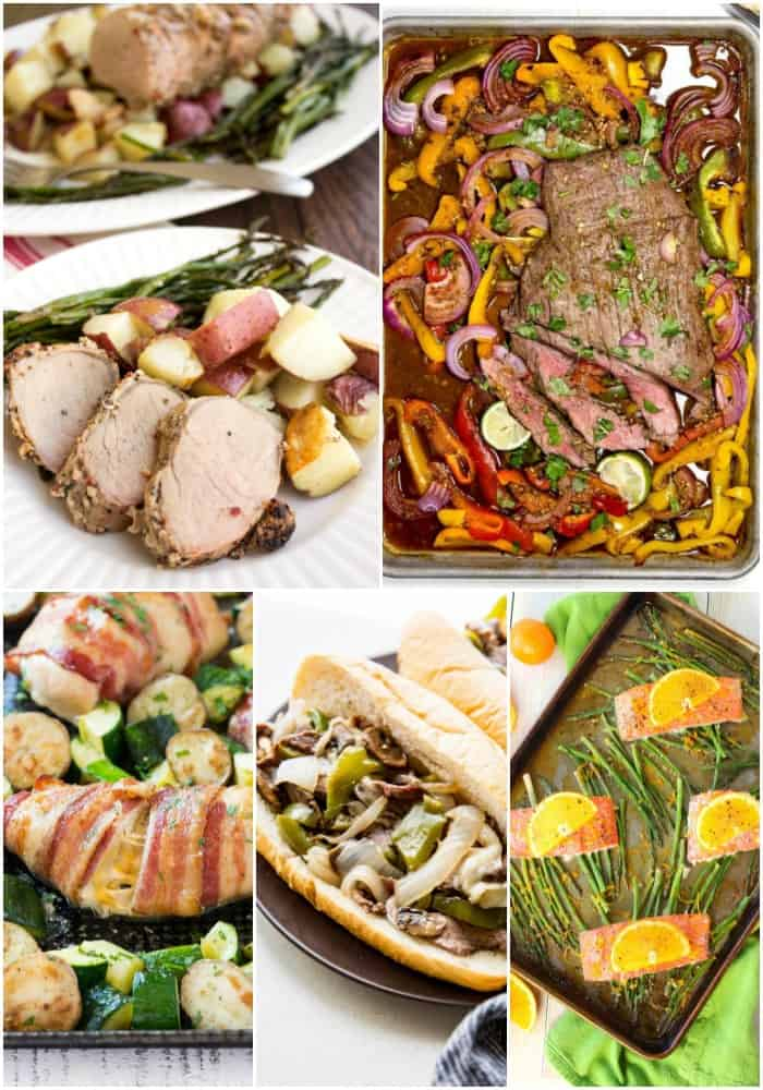 I love set and forget dinners. These easy sheet pan dinner recipes cook everything and once for a meal your family will request again and again!