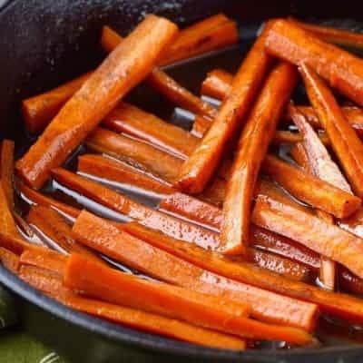 Easy Balsamic Glazed Carrots