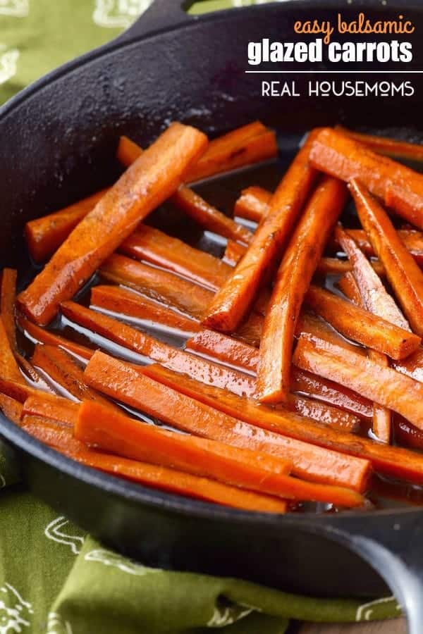 These EASY BALSAMIC GLAZED CARROTS are easy enough for a weeknight meal, but delicious enough to entertain with!